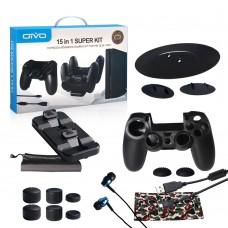 Набор аксессуаров для PS4 Slim/Pro 15 в 1 (Super Kit) - %f