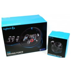 РУЛЬ LOGITECH G29 DRIVING FORCE + КОРОБКА ПЕРЕДАЧ LOGITECH DRIVING FORCE SHIFTER - %f